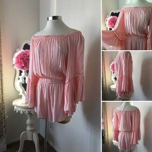 🌺Elan  Gorgeous Blush Short Romper